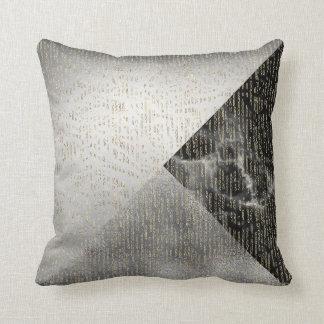 Cojín Decorativo Descensos metálicos de plata grises negros de