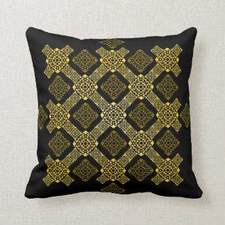 Cojín Decorativo diagonal del oro de f
