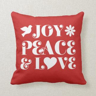 Cojín Decorativo Días de fiesta del rojo de la paz y del amor de la