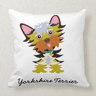 Cojín Decorativo Dibujo animado adorable de Yorkshire Terrier