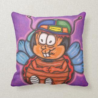Cojín Decorativo dibujo animado del muchacho de la mariquita