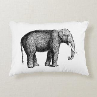 Cojín Decorativo Dibujo del elefante del vintage