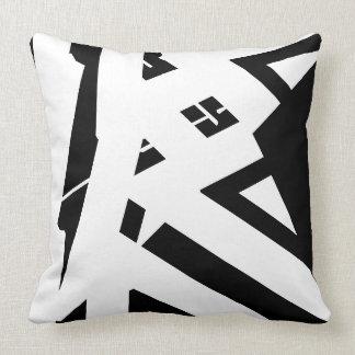 Cojín Decorativo Diseñador abstracto moderno blanco y negro