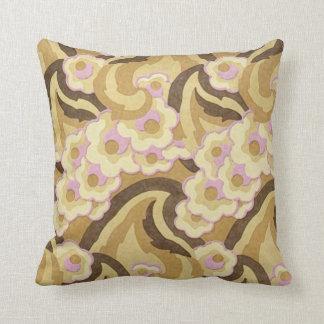 Cojín Decorativo Diseño beige y rosado del art déco