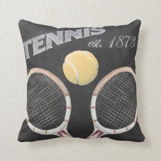 Cojín Decorativo Diseño de la pizarra del tenis del vintage