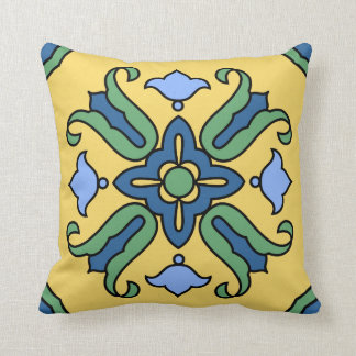 Cojín Decorativo Diseño de la teja de la isla de Catalina del