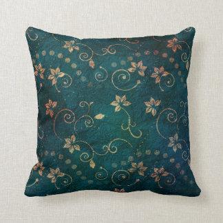 Cojín Decorativo Diseño floral subió trullo bonito del vintage del
