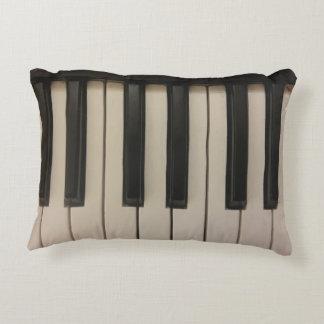 Cojín Decorativo Diseño lindo de las llaves del piano