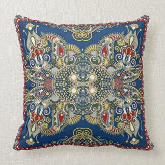 Cojín Decorativo Diseño oriental del azul real