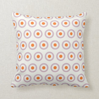 Cojín Decorativo Diseño retro del punto púrpura y anaranjado del
