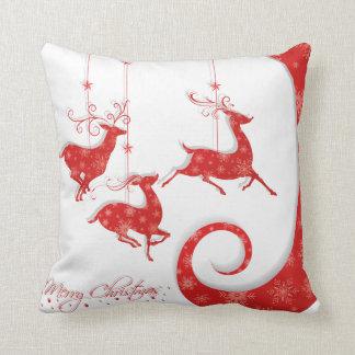 Cojín Decorativo Diseño rojo asombroso del navidad