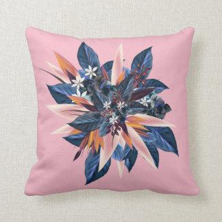 Cojín Decorativo Diseño tropical con las plantas y las flores