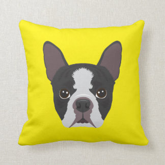 Cojín Decorativo Dogo francés amarillo