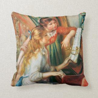 Cojín Decorativo Dos chicas en el piano por Renoir