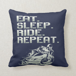 Cojín Decorativo Eat.Sleep.Ride.Repeat.