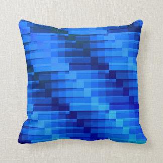 Cojín Decorativo Edificios en el azul abstracto moderno de la noche