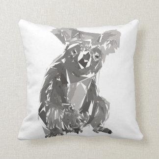 Cojín Decorativo Ejemplo del arte del polígono de la koala