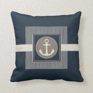 Cojín Decorativo El ancla de la nave náutica del efecto de la