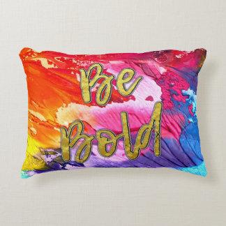 """Cojín Decorativo El arco iris vibrante del color """"sea intrépido"""" en"""