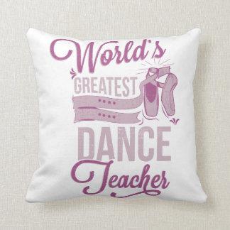 Cojín Decorativo El ballet más grande del profesor de la danza del