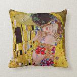 Cojín Decorativo El beso de Gustavo Klimt, arte Nouveau del vintage
