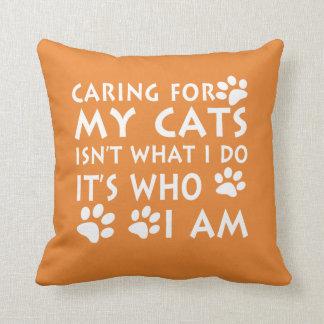 Cojín Decorativo El cuidar para mis gatos