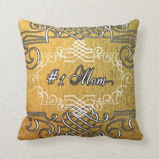 Cojín Decorativo El día de madre de oro de la mamá de lujo #1