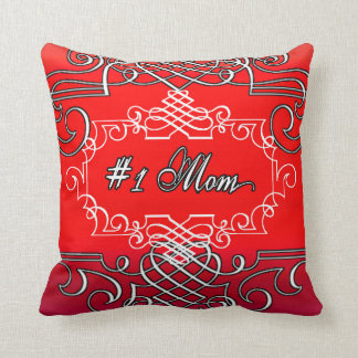 Cojín Decorativo El día de madre rojo de la tipografía de la mamá