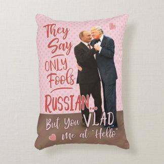 Cojín Decorativo El día de San Valentín divertido de Donald Trump