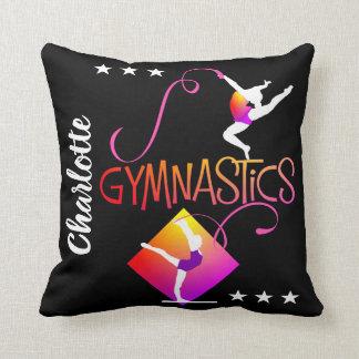 Cojín Decorativo El gimnasta figura la gimnasia linda de los chicas