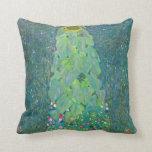 Cojín Decorativo El girasol por Klimt, vintage florece el arte