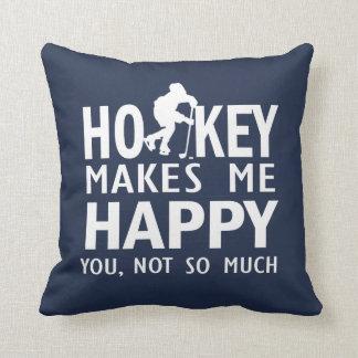 Cojín Decorativo El hockey me hace feliz