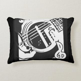Cojín Decorativo El jugar de la guitarra del amante de la música
