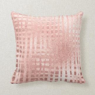 Cojín Decorativo El metal color de rosa rosado del oro se ruboriza