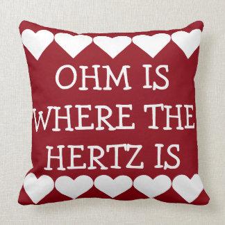 Cojín Decorativo El ohmio es donde está Hertz