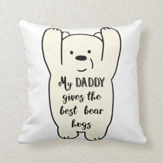 Cojín Decorativo El papá da el mejor amortiguador de los abrazos de