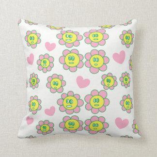 Cojín Decorativo El rosa adorable florece a chicas rosados de los