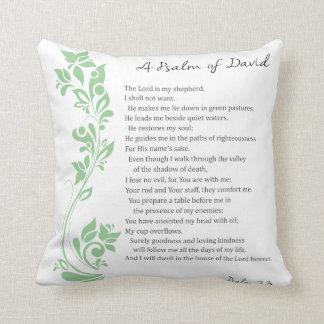 Cojín Decorativo El salmo de David el señor es mi verso de la
