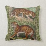 Cojín Decorativo El tigre y leopardo victorianos de época