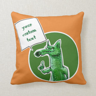 Cojín Decorativo el zorro da a un cierto consejo el dibujo animado