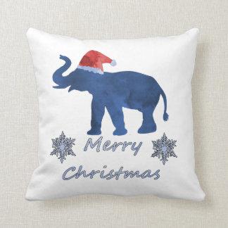 Cojín Decorativo Elefante del navidad