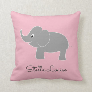 Cojín Decorativo Elefante lindo del bebé en cuarto de niños del