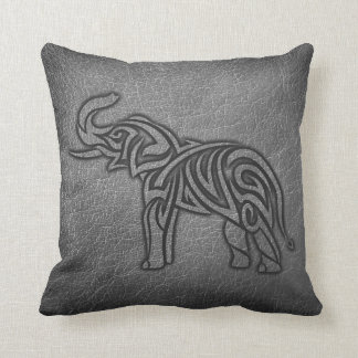 Cojín Decorativo Elefante tribal de cuero