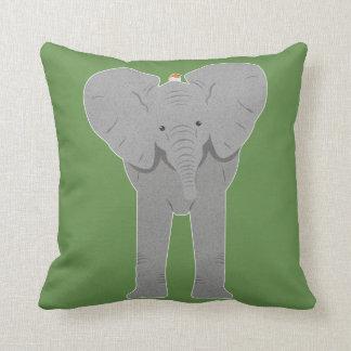 Cojín Decorativo elefante y pájaro