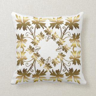 Cojín Decorativo Elemento de oro con las hojas