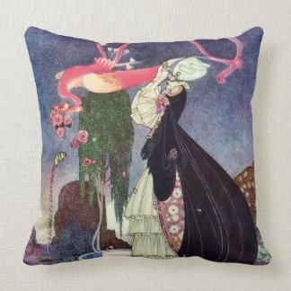 Cojín Decorativo En bella arte de Kaye Nielsen del polvo y de la