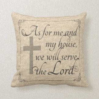 Cojín Decorativo En cuanto a mí y a mi casa serviremos al señor