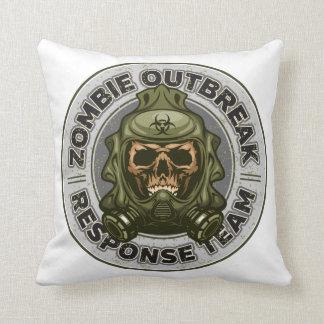 Cojín Decorativo Equipo de la respuesta del brote del zombi