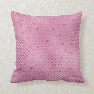 Cojín Decorativo Escalas rosadas de la sirena