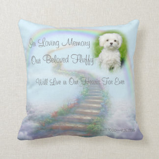 Cojín Decorativo Escalera conmemorativa personalizada del mascota